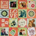 4×4 Scrapbook Layout- LOVE