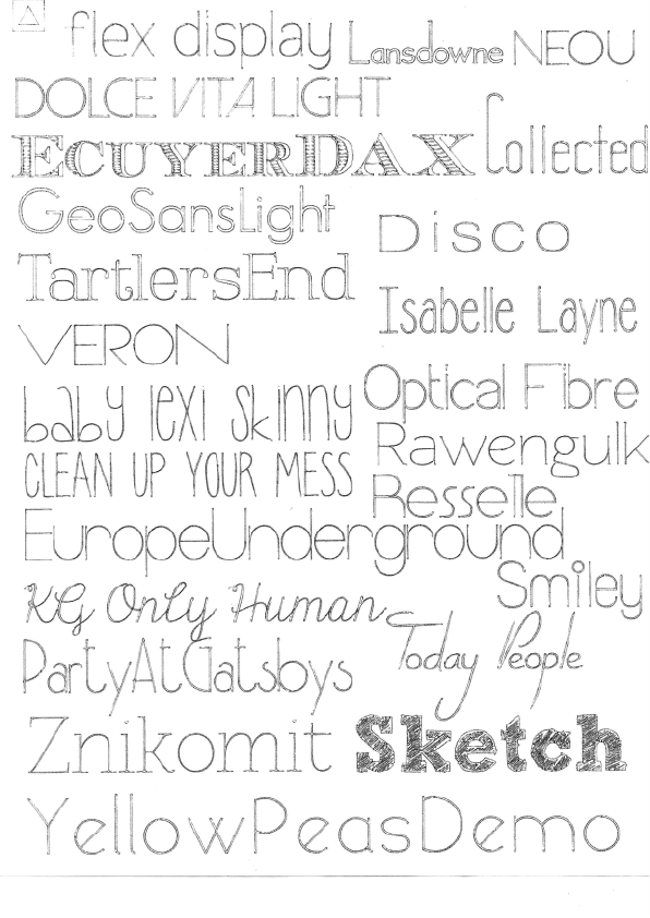 FREE Skinny Silhouette Sketch Pen Fonts