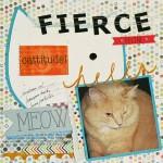 Fierce Feline Scrapbook Layout