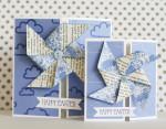 Pinwheel Spring Easter Cards