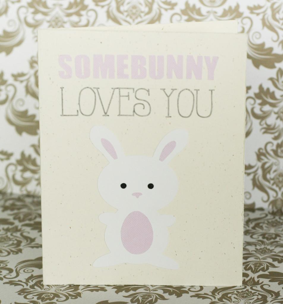 somebunny loves you easter card. Black Bedroom Furniture Sets. Home Design Ideas