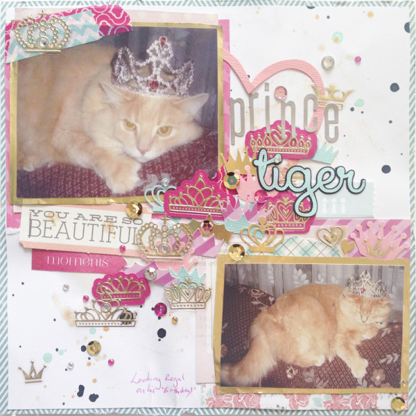 Prince Tiger Scrapbook Layout
