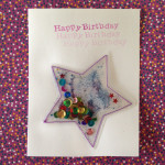 Star Sequin Pillow Card Tutorial