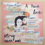 A True Love Story Scrapbook Layout