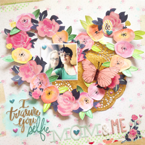 Mom & Me Scrapbook page