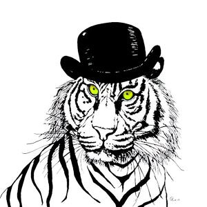 Anna Collins Top Hat Tiger.