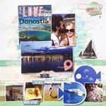Love in San Sebastian – SID DT scrapbook layout