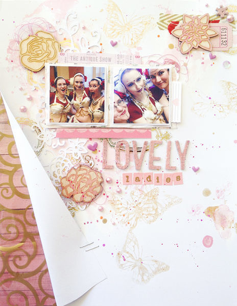 Lovely Ladies Scrapbook Layout