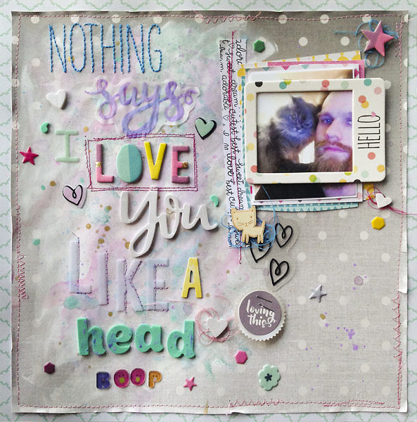 I love you scrapbook layout