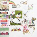 Picnic & Fun SID Scrapbook Page