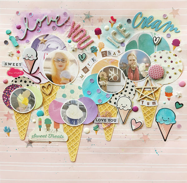 I Love You More Than Ice Cream: I Love You More Than Ice Cream SID DT Scrapbook Layout
